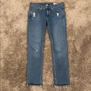 Rag & Bone Distressed Skinny Jean Everton Wash